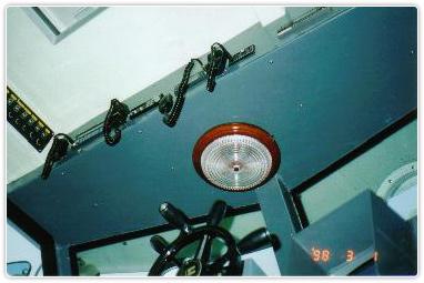 操舵室下からの写真